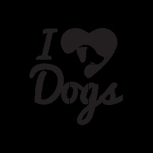 Стикер за кола - I love Dogs