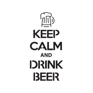 Стикер за кола - Keep Calm and Drink Beer