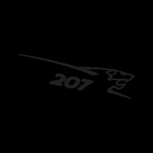 Стикер за кола - Peugeot 207