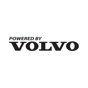 Стикер за кола Powered By Volvo