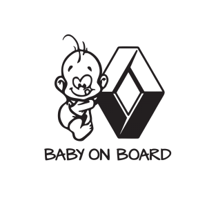 Стикер за кола Baby on Board Renault