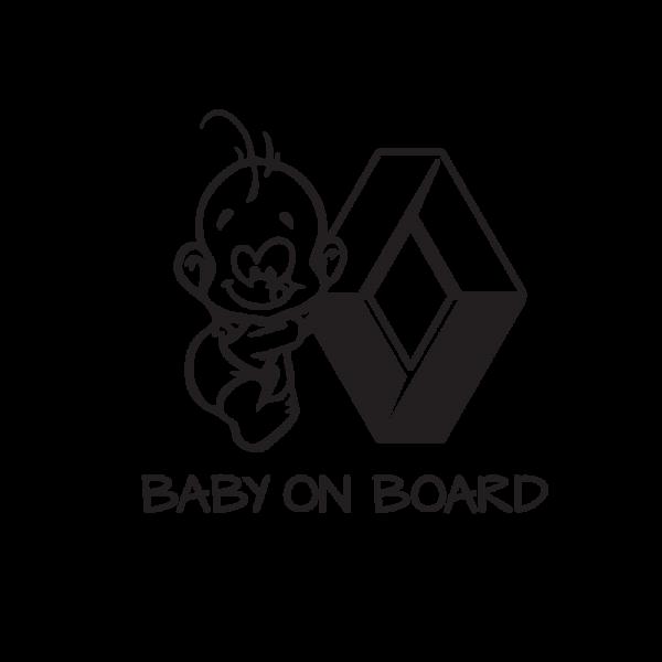Стикер за кола Baby on Board Renault