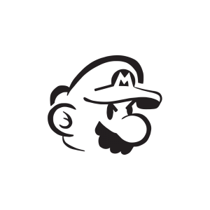 Стикер за кола - Super Mario