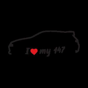 Стикер за кола - I Love My Alfa Romeo 147