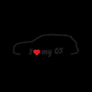 Стикер за кола - I love my Audi Q5