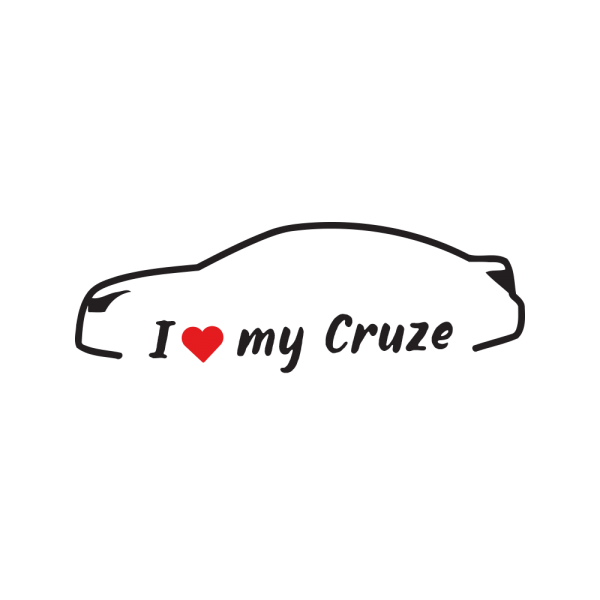 Стикер за кола - I Love my Chevrolet Cruze