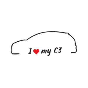 Стикер за кола - I love my Citroen C3