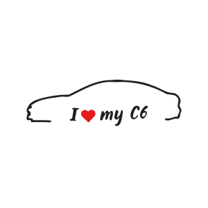 Стикер за кола - I love my Citroen C6