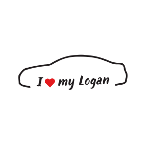 Стикер за кола - I love my Dacia Logan