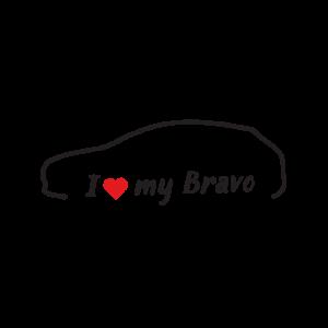 Стикер за кола - I love my Fiat Bravo