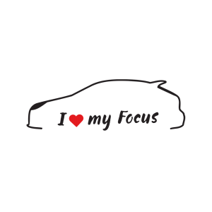 Стикер за кола - I Love my Ford Focus