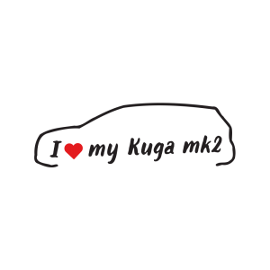 Стикер за кола - I love my Ford Kuga MK2
