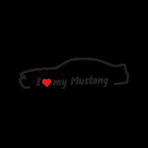 Стикер за кола - I Love my Mustang