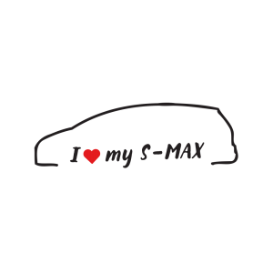 Стикер за кола - I love my Ford S-Max