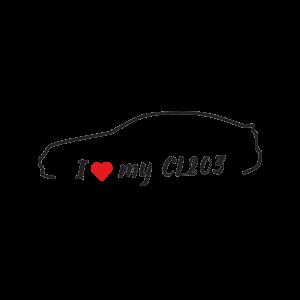 Стикер за кола - I Love my Mercedes CL203