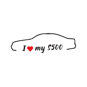 Стикер за кола - I Love my Mercedes S500