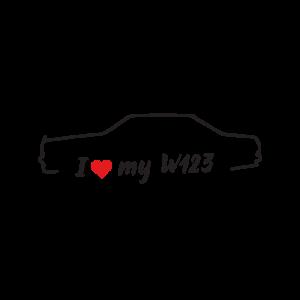 Стикер за кола - I Love my Mercedes W123