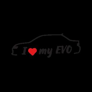 Стикер за кола - I Love my Mitsubishi EVO