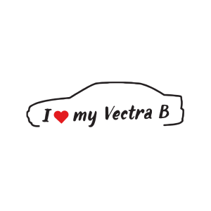 Стикер за кола - I Love my Opel Vectra B