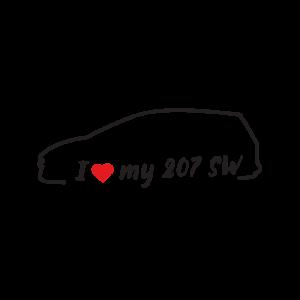 Стикер за кола - I love my Peugeot 207 SW