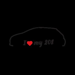 Стикер за кола - I love my Peugeot 208