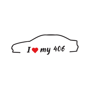 Стикер за кола - I love my Peugeot 406
