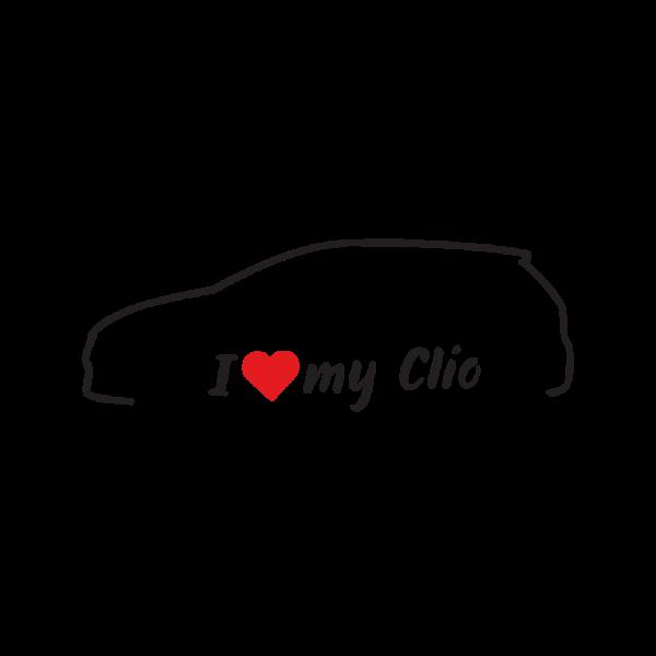 Стикер за кола - I love my Renault Clio 4