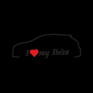 Стикер за кола - I love my Seat Ibiza 6J