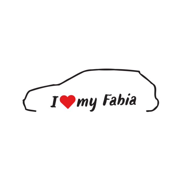 Стикер за кола - I love my Skoda Fabia 6Y