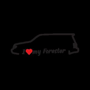 Стикер за кола - I Love my Subaru Forester