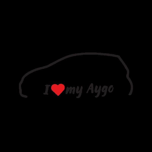 Стикер за кола - I love my Toyota Aygo