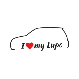 Стикер за кола - I love my VW Lupo