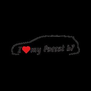 Стикер за кола - I love my VW Passat B7