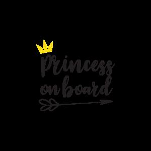 Стикер за кола - Princess on Board