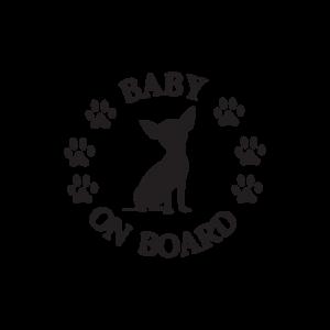 Стикер за кола - Dog Baby On Board