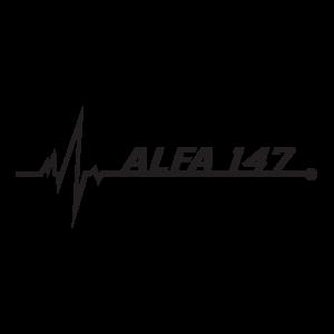 Стикер за кола - Alfa Romeo 147 pulse love