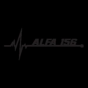 Стикер за кола - Alfa Romeo 156 pulse love