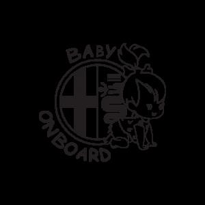 Стикер за кола - Alfa Romeo Baby Girl on Board