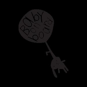 Стикер за кола - Baby on Board летящо зайче