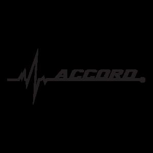 Стикер за кола - Honda Accord pulse love