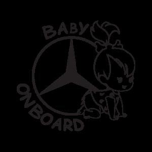 Стикер за кола - Mercedes Baby Girl on Board