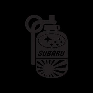Стикер за кола - Subaru граната